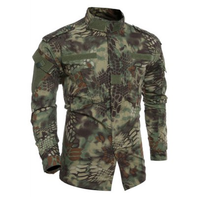 Stand Collar Mens Pockets Camo Printing Training Suits (Jacket+Pants)Mens Jackets &amp; Coats<br>Stand Collar Mens Pockets Camo Printing Training Suits (Jacket+Pants)<br><br>Clothes Type: Jackets<br>Style: Casual<br>Material: Cotton Blends<br>Collar: Stand Collar<br>Clothing Length: Regular<br>Sleeve Length: Long Sleeves<br>Season: Fall,Spring,Summer,Winter<br>Weight: 1.202kg<br>Package Contents: 1 x Jackets 1 x Pants