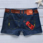 Belt Pattern Elastic Waist Print Penis Pouch Men's Boxer Brief for sale