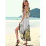 Bohemian Style Sleeveless Printed Women's Dress for sale