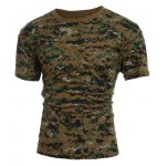 Slimming Short Sleeves Round Collar Camo T-Shirt For Men