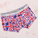 cheap Elastic Waist Union Jack Pattern Comfortable Boxer Brief For Men