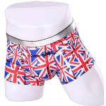 Elastic Waist Union Jack Pattern Comfortable Boxer Brief For Men