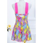 cheap Stylish Sweetheart Neckline Push-Up Printed One-Piece Swimsuit For Women