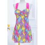 Stylish Sweetheart Neckline Push-Up Printed One-Piece Swimsuit For Women