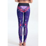 Women's Stylish Elastic Waist Colorful Print Leggings for sale