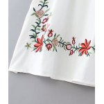 Ethnic Style V-Neck Embroidered Button Design Women's Dress deal