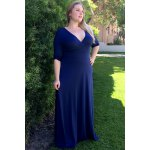 best Plus Size Low Cut Prom Dress with Sleeves