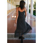 Bohemian Style Strappy Polka Dot Baggy Maxi Dress For Women for sale