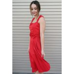 best Vintage Turn-Down Collar Sleeveless Solid Color Bowknot Embellished Women's Dress