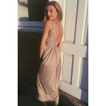 U Neck Sleeveless Open Back Club Loose-Fitting Dress for sale