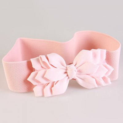 Chic Multilayered Big Bow Embellished Elastic Waistband For Women