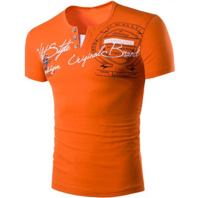 Short Sleeve Orange T Shirt