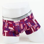 Elastic Waist Letters and Union Jack Pattern Comfortable Boxer Brief For Men