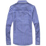 cheap Vertical Stripe Turn-Down Collar Long Sleeve Shirt For Men