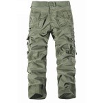 cheap Casual Solid Color Muiti-pockets Cargo Pants For Men