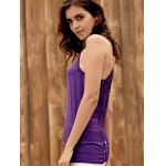best Trendy U-Neck Hollow Out Solid Color Women's Racerback Top