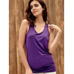 Trendy U-Neck Hollow Out Solid Color Women's Racerback Top deal