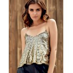 cheap Sparkly Sequins Tank Top For Party