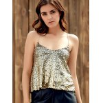 Sexy Spaghetti Strap Sequins Tank Top For Women deal