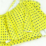 Stylish Flounced Top and Pleated Culotte Two-Piece Swimwear For Women for sale