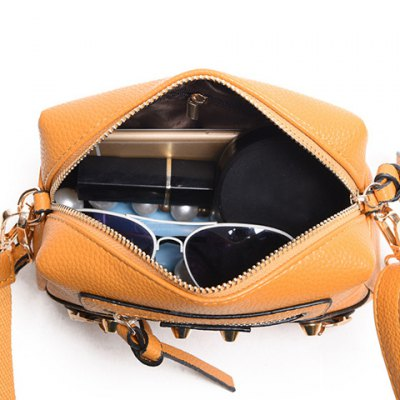 Fashion PU Leather and Solid Color Design Crossbody Bag For Women