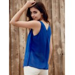 Lace Up Chiffon Tank Top for sale
