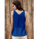 Lace Up Chiffon Tank Top deal