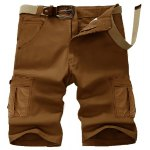 Casual Straight Leg Stereo Pocket Slimming Zipper Fly Cargo Shorts For Men