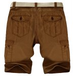 cheap Casual Straight Leg Stereo Pocket Slimming Zipper Fly Cargo Shorts For Men