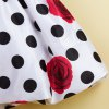 best Sweet Rose Polka Dot Print Sleeveless Girl's Dress