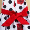 Sweet Rose Polka Dot Print Sleeveless Girl's Dress for sale