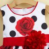 Sweet Rose Polka Dot Print Sleeveless Girl's Dress deal