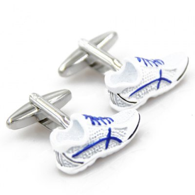 Pair of Chic Mini Gym Shoes Shape Alloy Cufflinks For Men