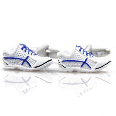 Pair of Mini Gym Shoes Shape Alloy Cufflinks For Men