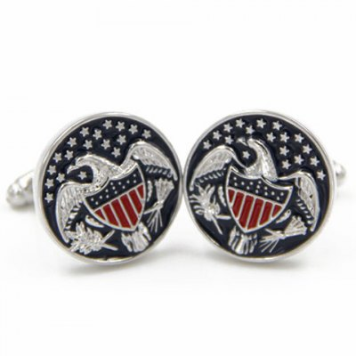 Pair of Chic US Congress Symbol Eagle Pattern Cufflinks For Men