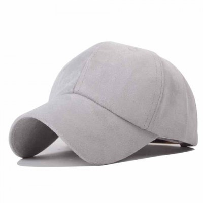 Chic Solid Color Faux Suede Baseball Hat For Women