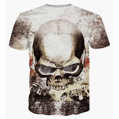 Fashion Pullover Skull Printing T-Shirt For MenMens Short Sleeve Tees<br>Fashion Pullover Skull Printing T-Shirt For Men<br><br>Material: Cotton Blends<br>Sleeve Length: Short<br>Collar: Round Neck<br>Style: Casual<br>Weight: 0.209kg<br>Package Contents: 1 x T-Shirt<br>Pattern Type: Skulls