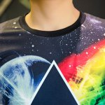 3D Space and Geometric Print Round Neck Short Sleeve T-Shirt For Men for sale