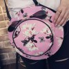 cheap Cute Floral Print and Butterfly Pattern Design Shoulder Bag For Women
