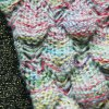 Endearing Multicolored Mermaid Knitted Blankets and Throws for sale