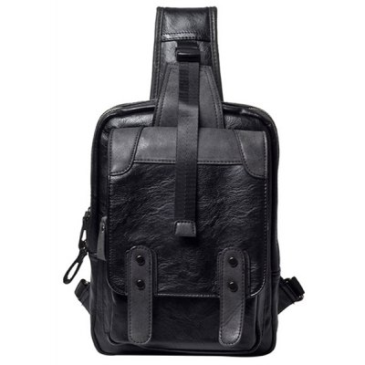 Black Color Design Messenger Bag For Men