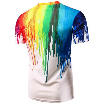 Casual Colorful Painting Pullover T-Shirt For MenMens Short Sleeve Tees<br>Casual Colorful Painting Pullover T-Shirt For Men<br><br>Collar: Round Neck<br>Material: Cotton Blends<br>Package Contents: 1 x T-Shirt<br>Pattern Type: Print<br>Sleeve Length: Short<br>Style: Casual<br>Weight: 0.1810kg