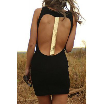 Alluring Hollow Back Women's Party Dress
