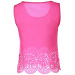 cheap Chic Scoop Neck Sleeveless Hollow Out Solid Color Women's Tank Top