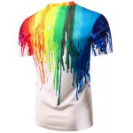cheap Casual Colorful Painting Pullover T-Shirt For Men