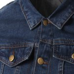 Pockets Design Turn-Down Collar Long Sleeve Denim Jacket For Men deal