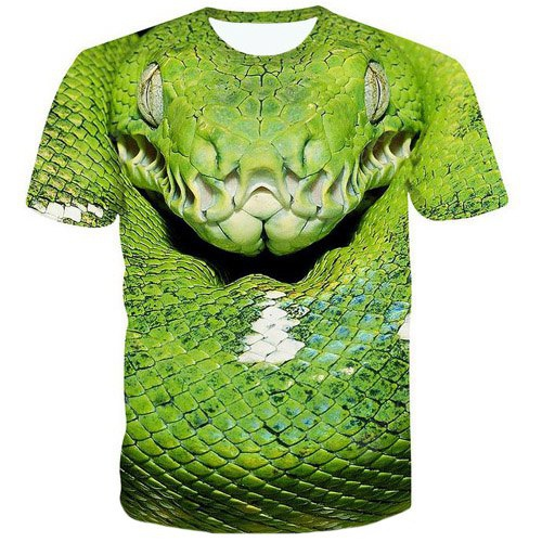 Image de Fashion 3D Snakehead Printed Pullover T-Shirt For Men