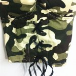 Trendy Strappy Camo Criss Cross Crop Top For Women deal
