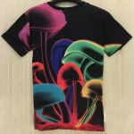 cheap Casual Round Collar Color Mushrooms Printed T-Shirt For Men