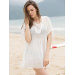 cheap Fashionable Scoop Neck Dolman Sleeve Cover-Up Dress For Women